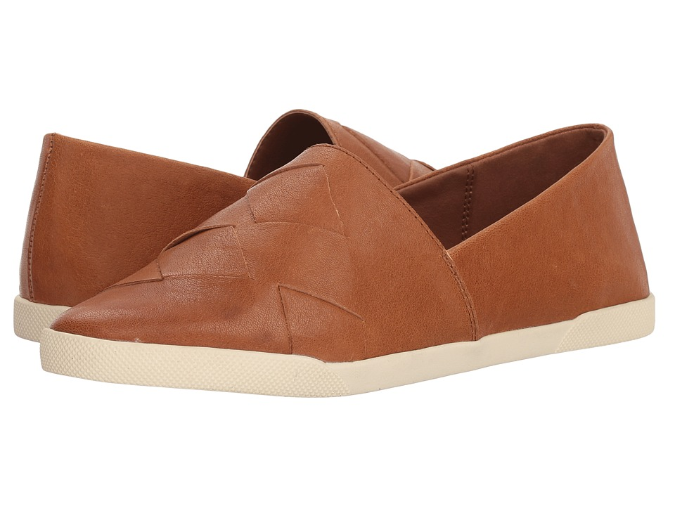 Frye Liz Woven Slip (Tan Glazed Goat Leather) Slip-On Shoes