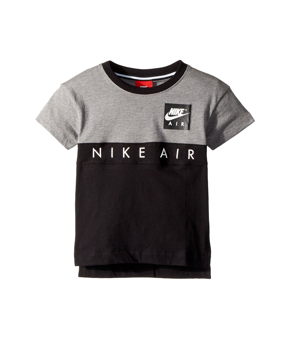 Nike Kids - Nike(r) Air Short Sleeve Color Block Top (Toddler) (Carbon Heather) Boys Clothing