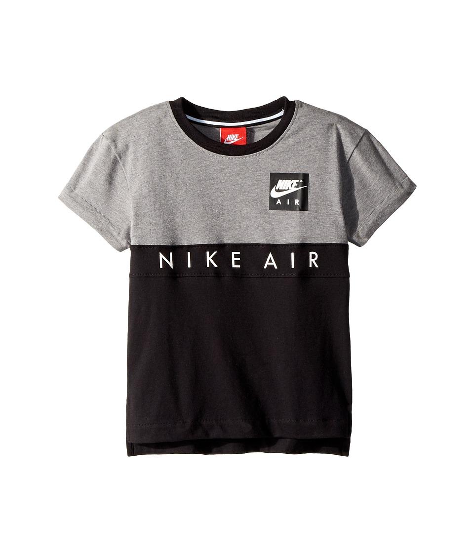Nike Kids - Nike(r) Air Short Sleeve Color Block Top (Little Kids) (Carbon Heather) Boys Clothing