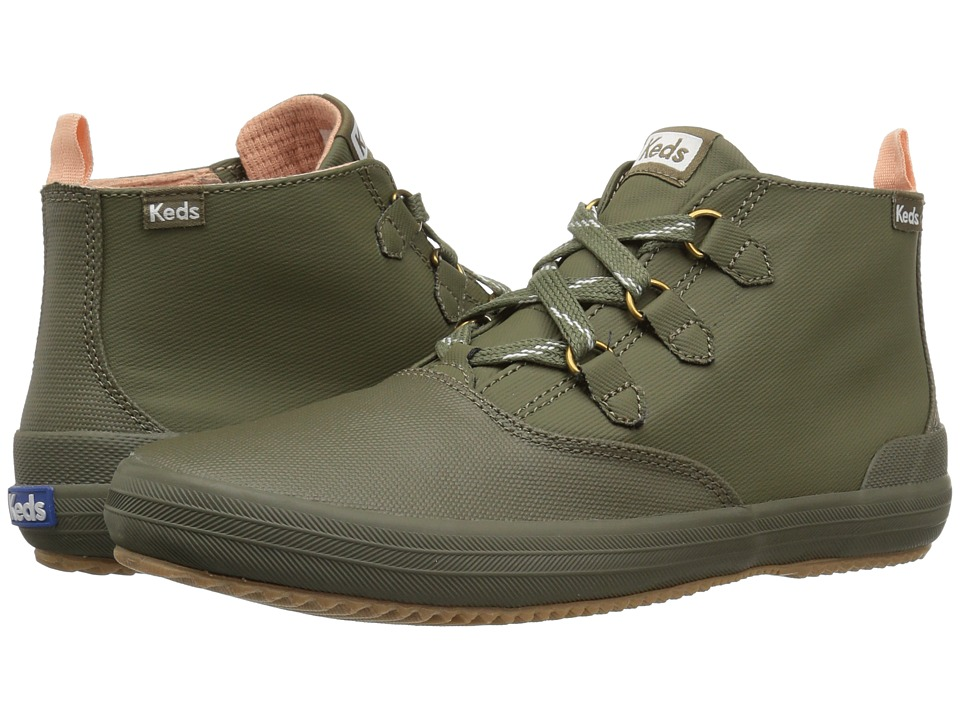 Keds Scout Chukka Splash Twill Wax (Olive) Slip-On Shoes