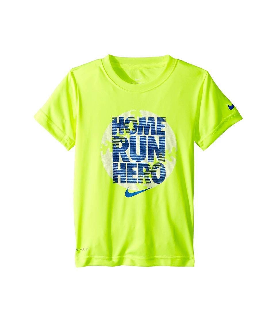 Nike Kids - Dri-FIT Short Sleeve Tee (Little Kids) (Volt) Boys T Shirt