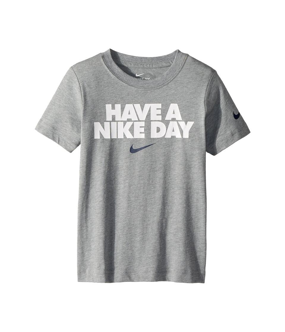 Nike Kids - Have A Nike(r) Day Short Sleeve Tee (Little Kids) (Dark Grey Heather) Boys T Shirt