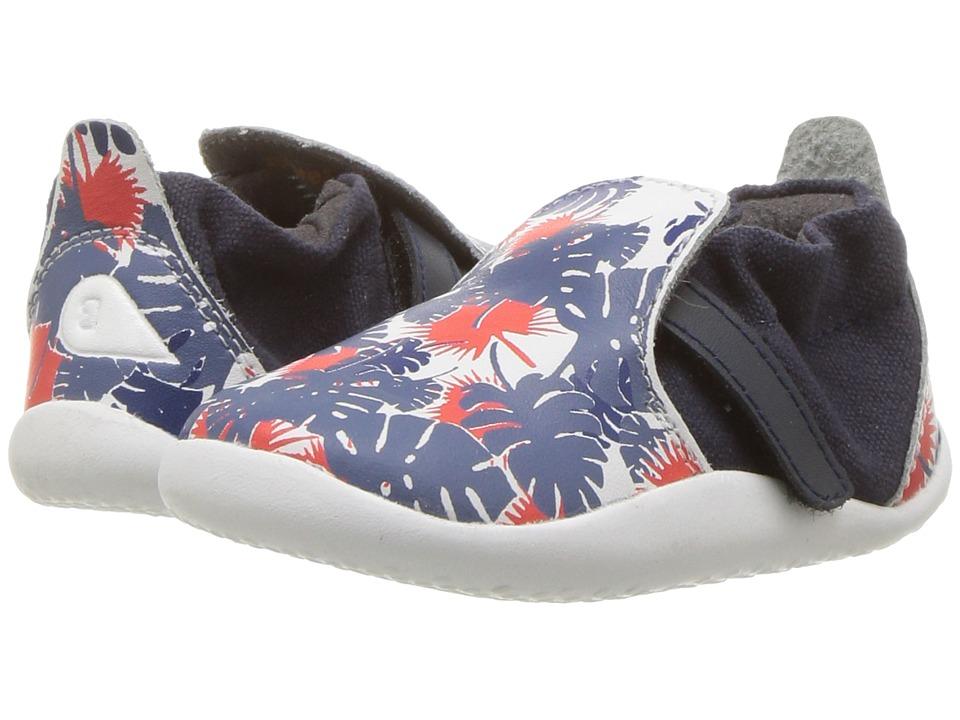 Bobux Kids - Step Up Xplorer Habitat (Infant/Toddler) (Printed White/Blue) Boys Shoes
