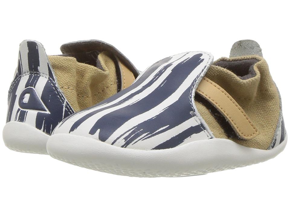 Bobux Kids - Step Up Xplorer Paint (Infant/Toddler) (White/Navy) Boys Shoes