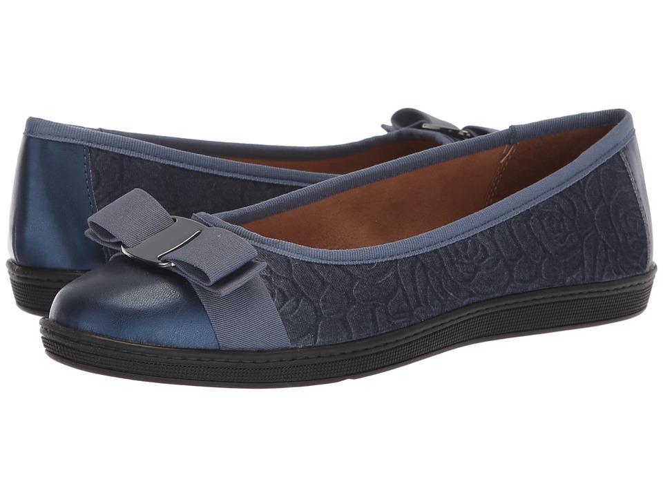 Soft Style Faeth (Mid Blue Rose Velvet) Flats
