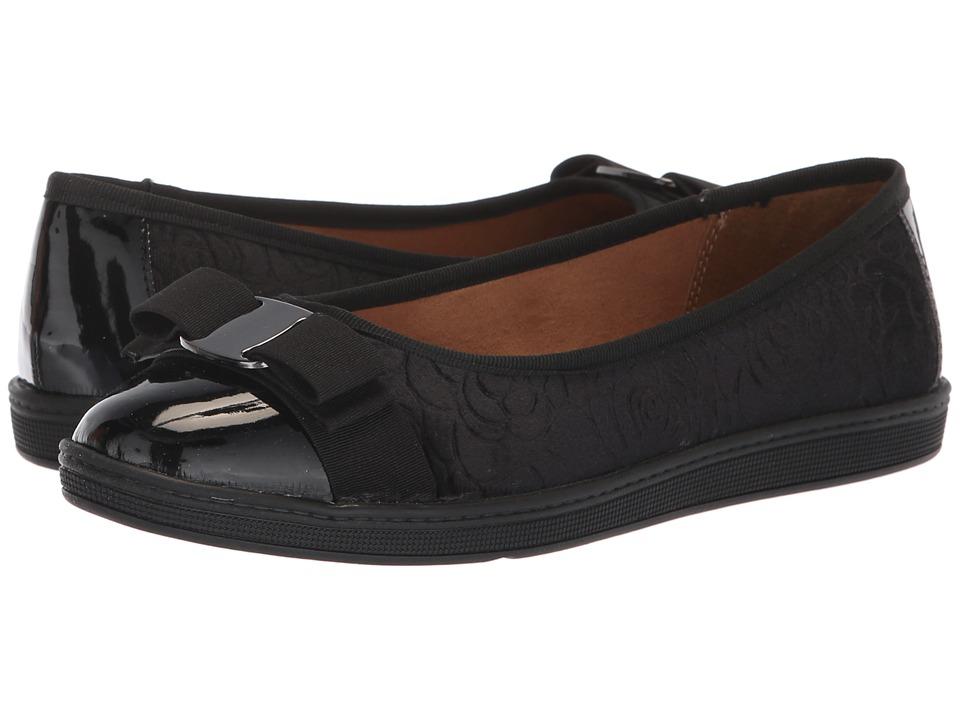 Soft Style Faeth (Black Rose Velvet) Flats