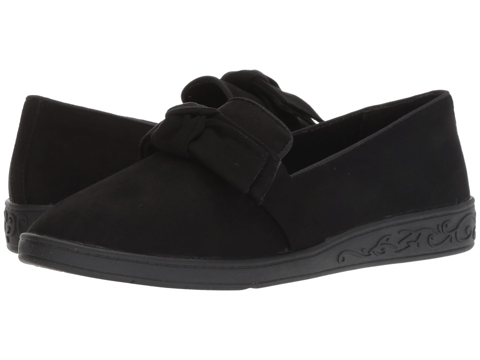 Soft Style Pazazz (Black Faux Suede) Flats