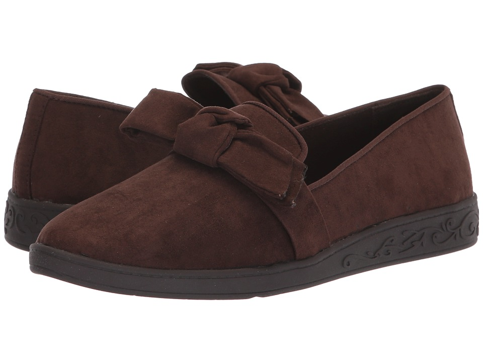 Soft Style Pazazz (Dark Brown Faux Suede) Flats
