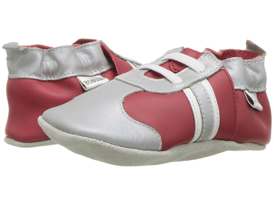 Bobux Kids - Soft Sole Sports (Infant) (Silver/Red) Kids Shoes