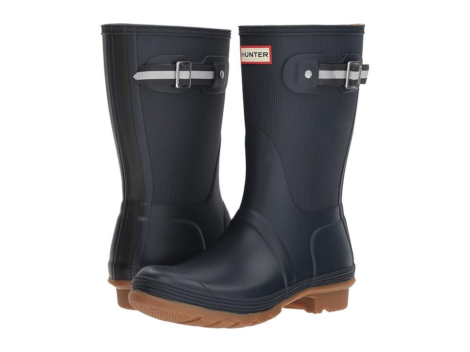 Hunter Original Sissinghurst Short Boot (Navy/Black) Women's Rain Boots