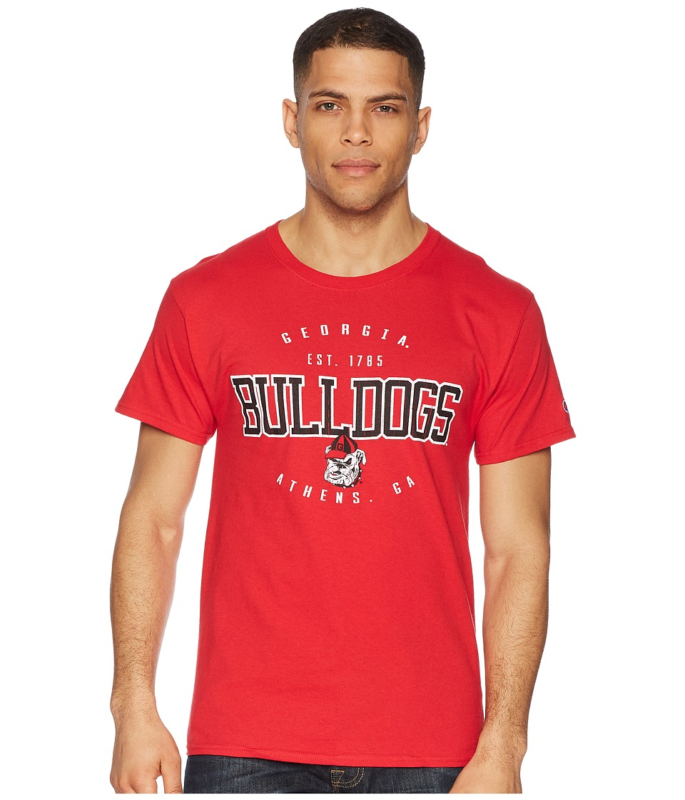 Champion College - Georgia Bulldogs Jersey Tee 2 (Scarlet) Mens T Shirt