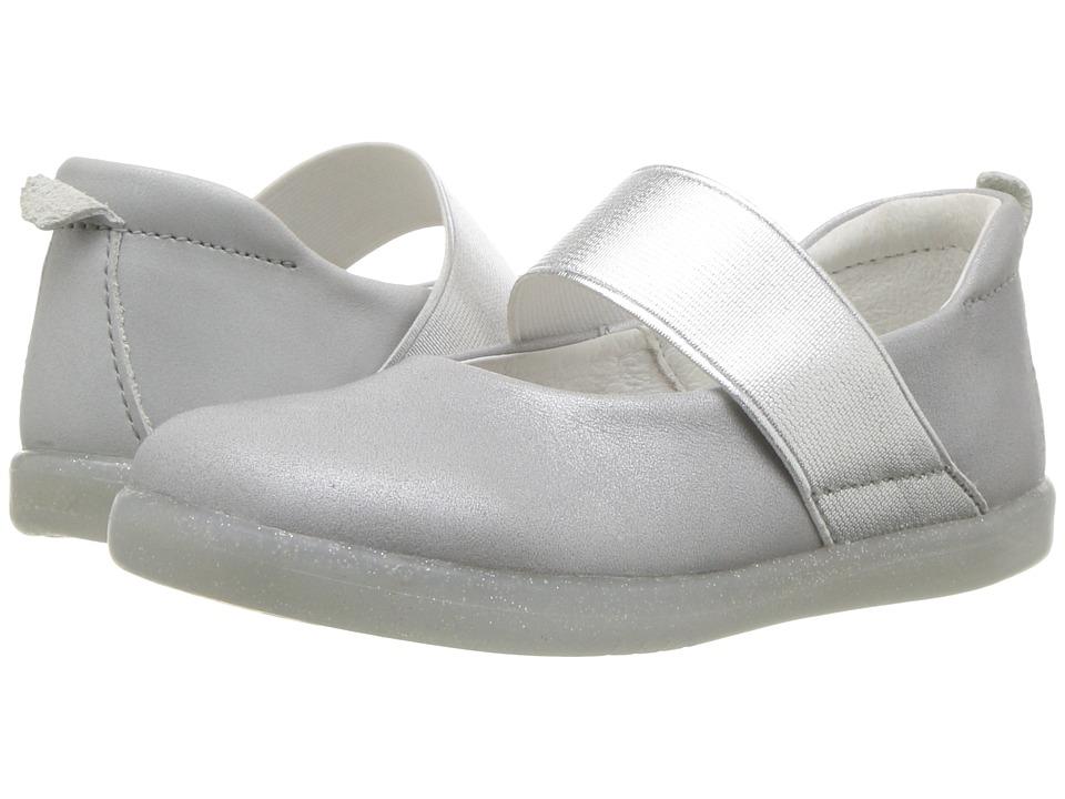 Bobux Kids - I-Walk Demi Ballet (Toddler) (Silver Shimmer) Girls Shoes