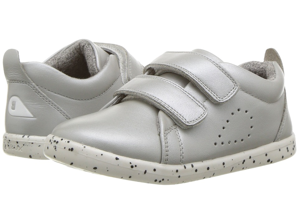 Bobux Kids - I-Walk Grass Court Trainer (Toddler) (Silver) Girls Shoes
