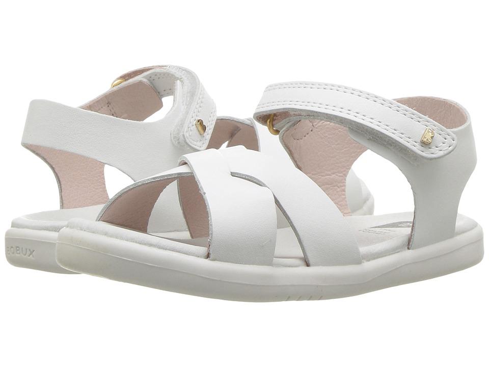 Bobux Kids - I-Walk Roman Sandal (Toddler) (White) Girls Shoes