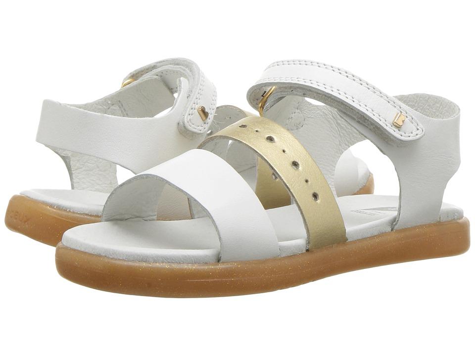 Bobux Kids - I-Walk Trinity Sandal (Toddler) (White/Gold) Girls Shoes