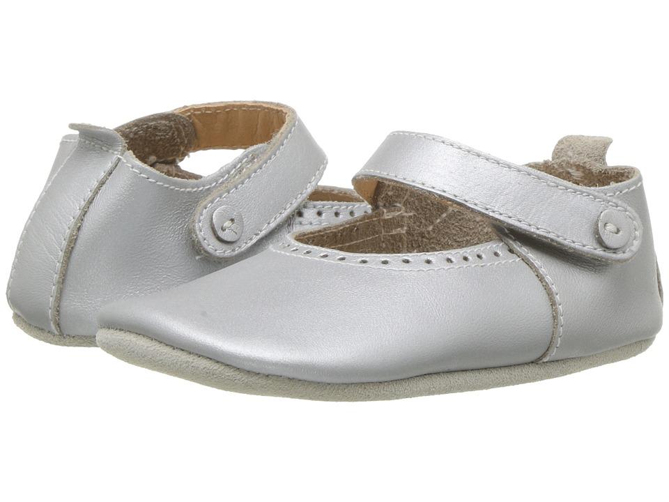 Bobux Kids - Soft Sole Mary Jane (Infant) (Silver) Girls Shoes