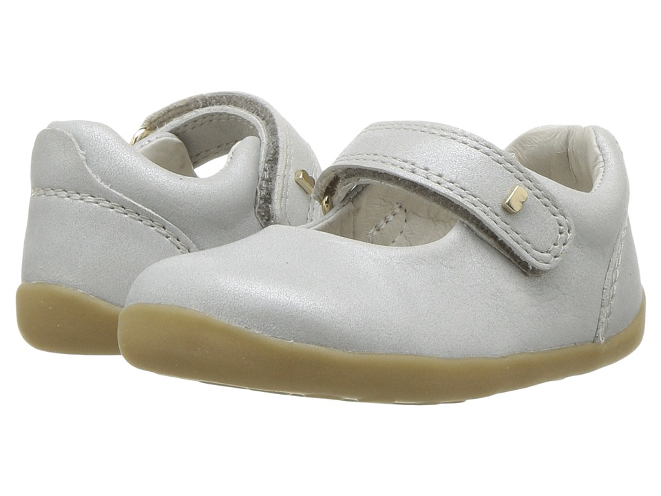 Bobux Kids - Step Up Delight Mary Jane (Infant/Toddler) (Silver Shimmer) Girls Shoes