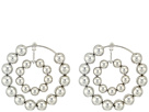 Steve Madden Multi Beaded Double Hoop Post Earrings