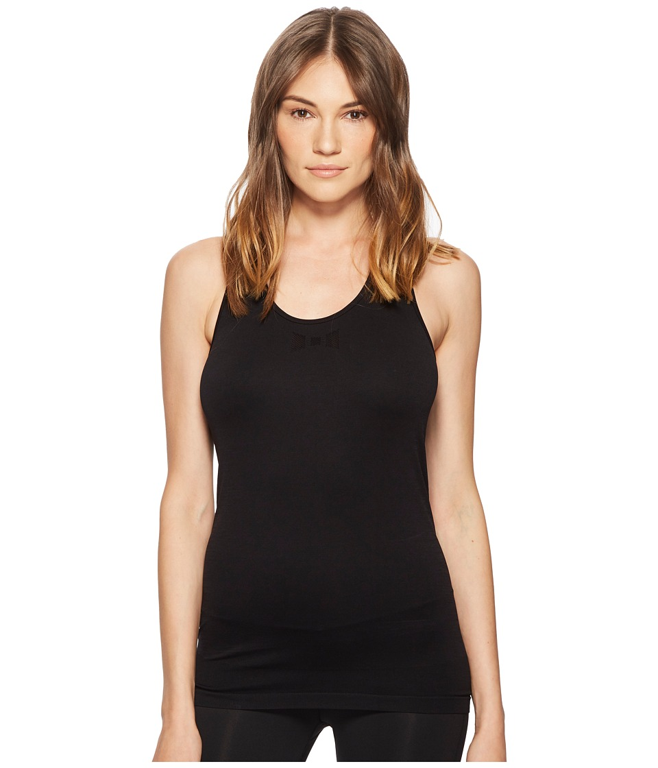 Kate Spade New York Athleisure - Jacquard Bow Tank Top (Black) Womens Sleeveless
