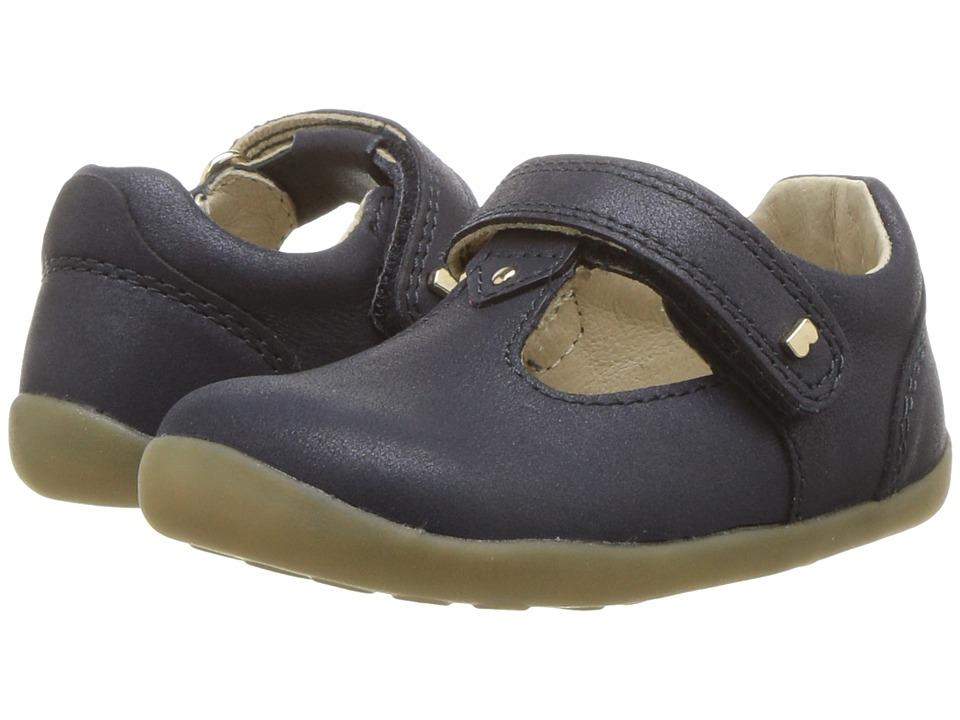 Bobux Kids - Step Up Louise T-Bar (Infant/Toddler) (Navy Shimmer) Girls Shoes