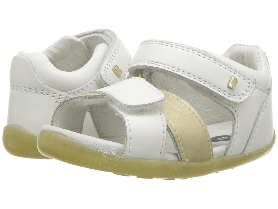 Bobux Kids - Step Up Sail Sandal (Infant/Toddler) (White/Gold) Girls Shoes