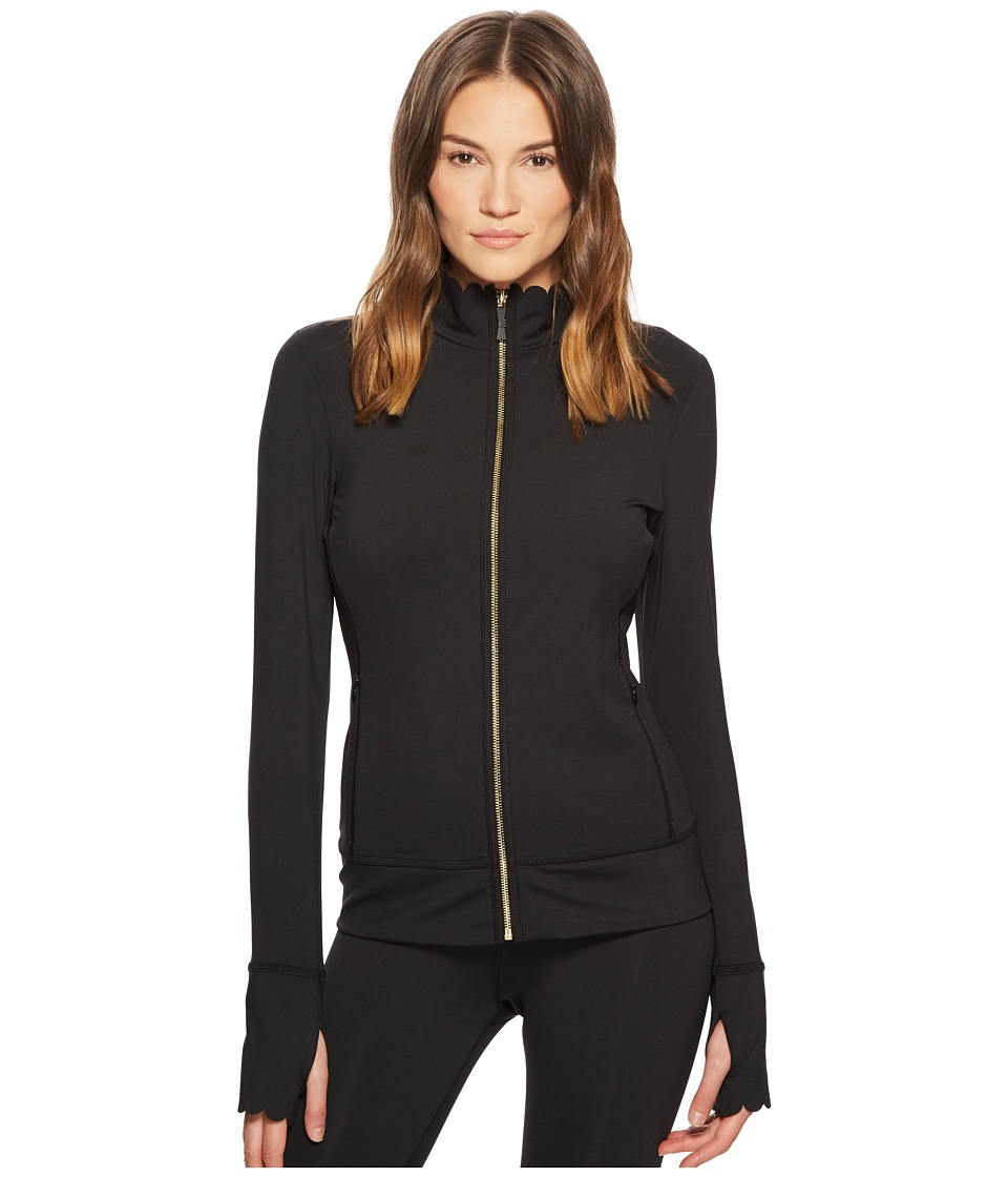 Kate Spade New York Athleisure - Scallop Jacket (Black) Womens Coat