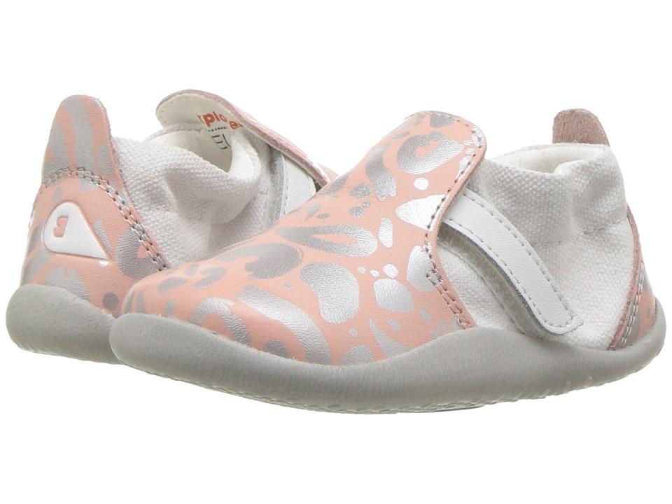 Bobux Kids - Step Up Xplorer Abstract (Infant/Toddler) (Silver/Pink) Girls Shoes