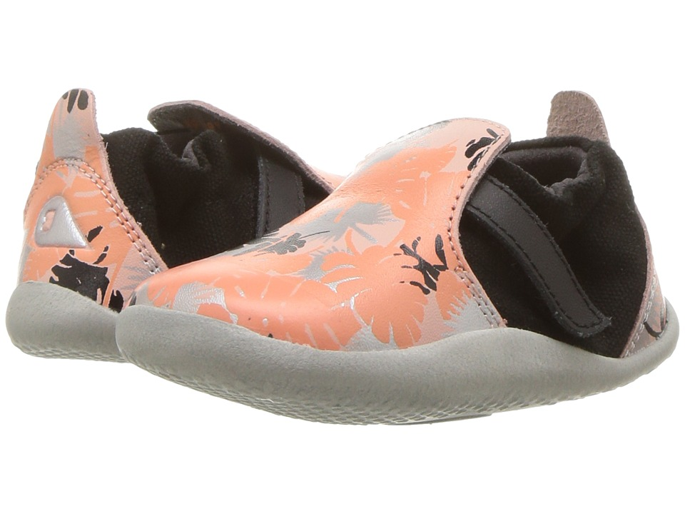 Bobux Kids - Step Up Xplorer Habitat (Infant/Toddler) (Printed Pink/Silver) Girls Shoes