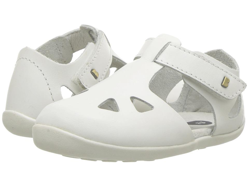 Bobux Kids - Step Up Zap Sandal (Infant/Toddler) (White) Girls Shoes