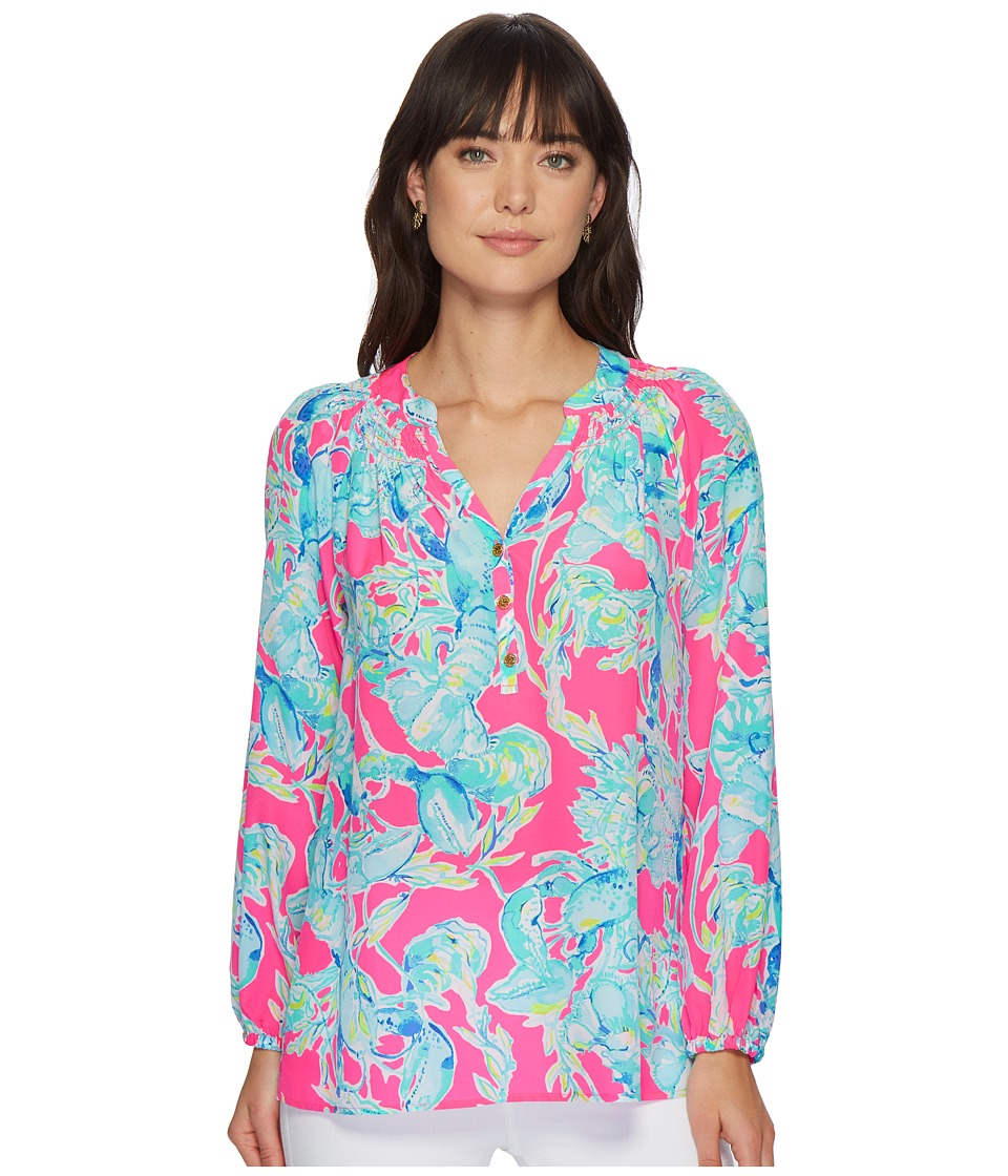 Lilly Pulitzer - Elsa Top (Raz Berry Lobsters in Love) Womens Blouse