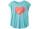 Nike Kids Spray Heart Dri-FIT Modern Tee (Little Kids)