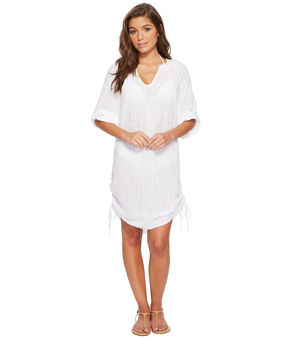 Seafolly Bali Hai Textured Gauze Beach Shirt Cover-Up (White) Women