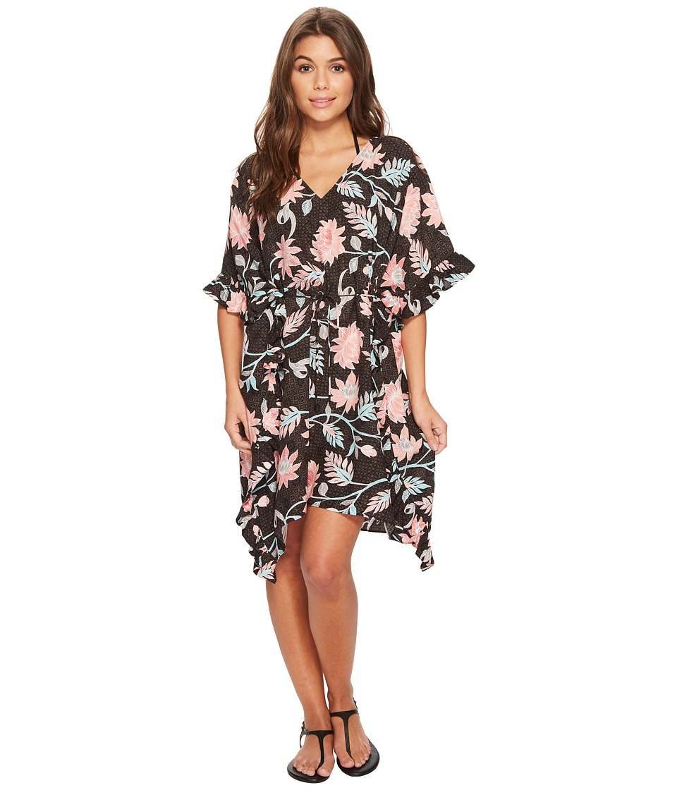 Seafolly Bali Hai Ruffle Kaftan Cover-Up (Black) Women
