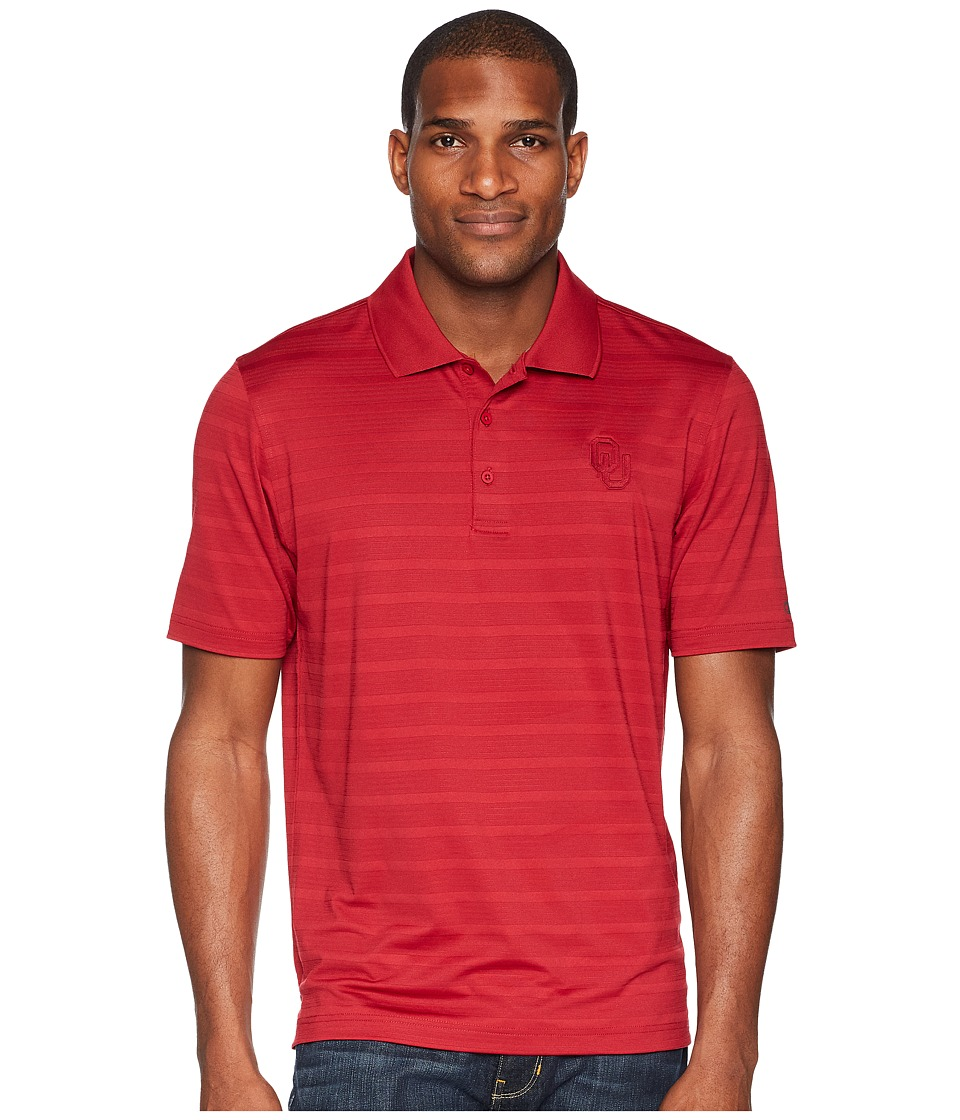 Champion College - Oklahoma Sooners Textured Solid Polo (Cardinal) Mens Short Sleeve Pullover