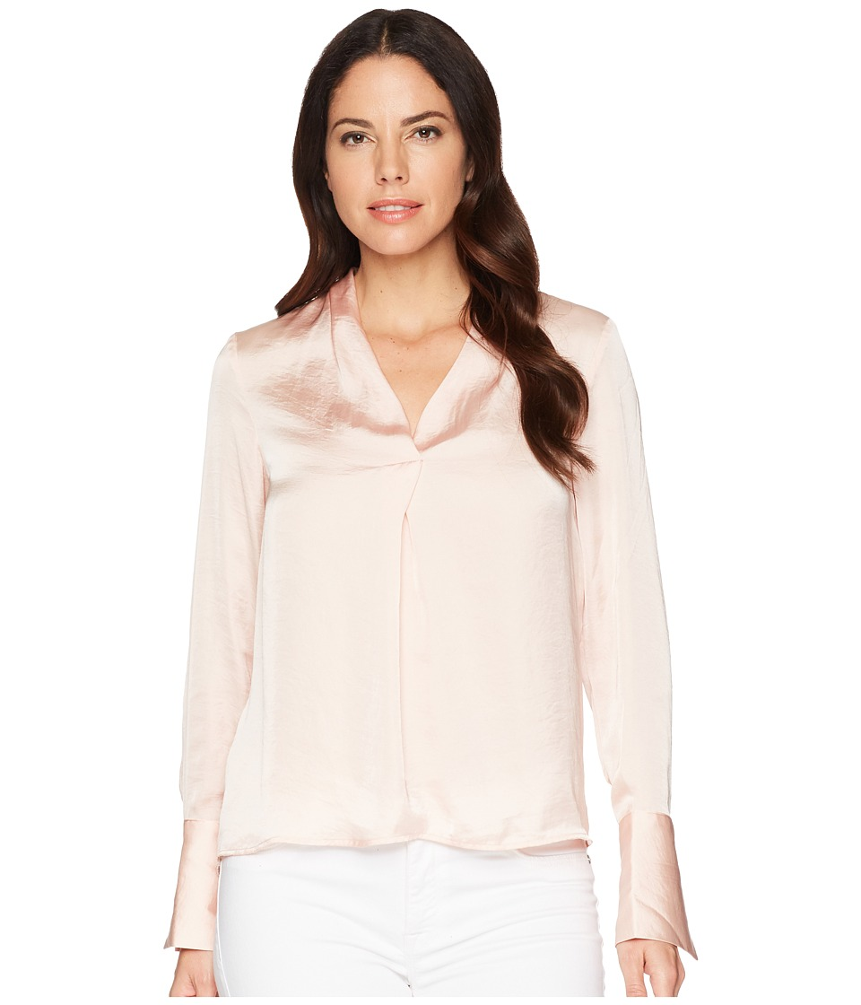 Kenneth Cole New York - V-Neck Long Sleeve Blouse (Peachy Keen) Womens Blouse