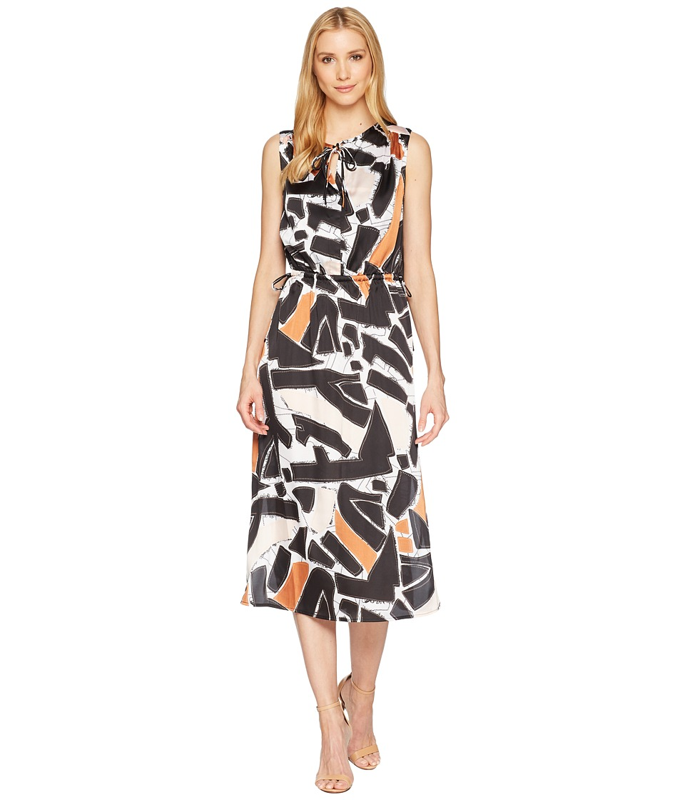 Kenneth Cole New York - Triple Tie Column Dress (Embroidered Shapes/Black) Womens Dress