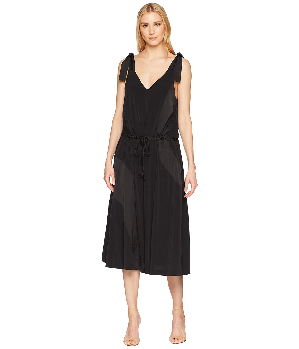 Kenneth Cole New York - V-Neck Shoulder Tie Tank Dress (Black) Womens Dress