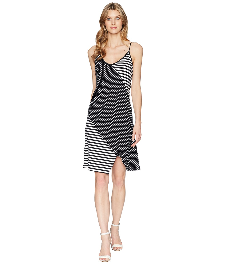 Kenneth Cole New York - Pieced Cami Dress (Top Stripe/Black) Womens Dress