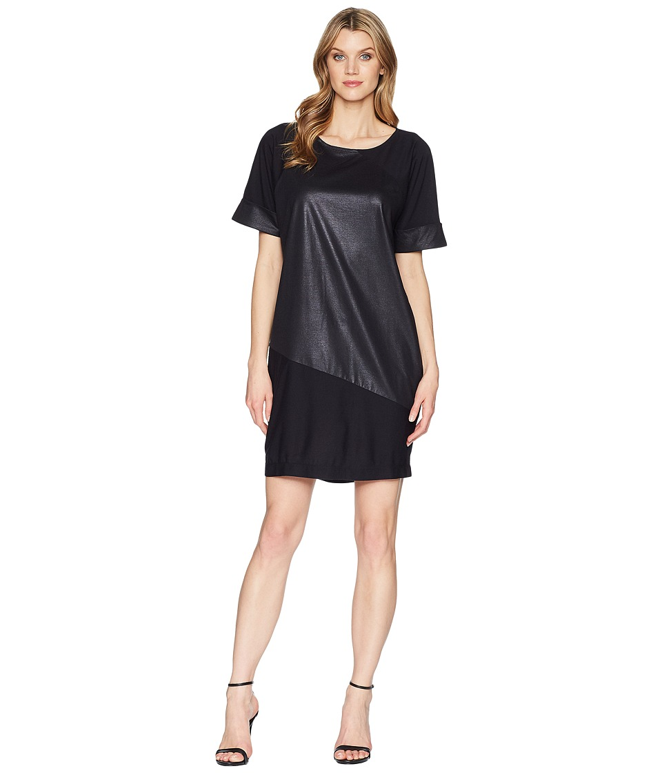 Kenneth Cole New York - Color Blocked T-Shirt Dress (Black) Womens Dress