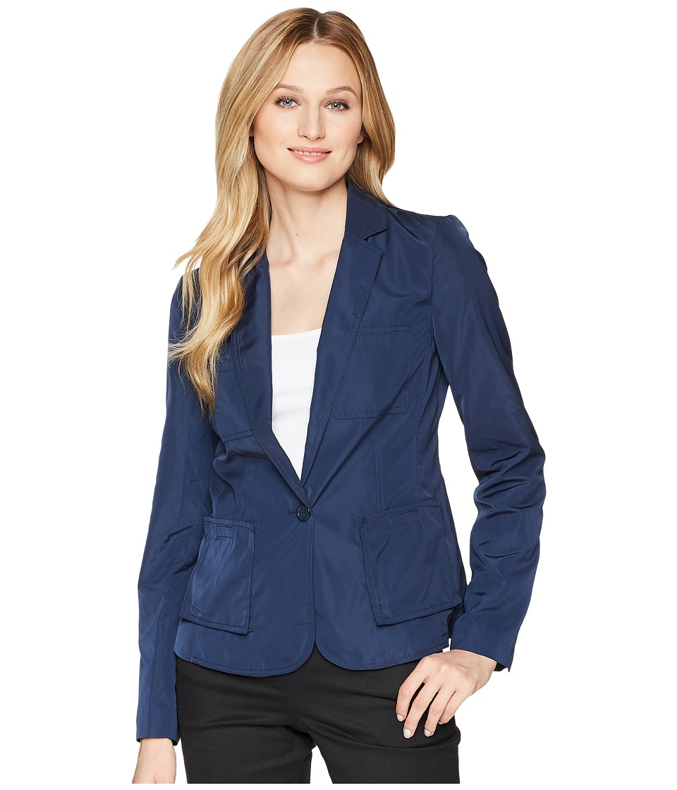 Kenneth Cole New York - Two-Button Blazer (Indigo) Womens Jacket