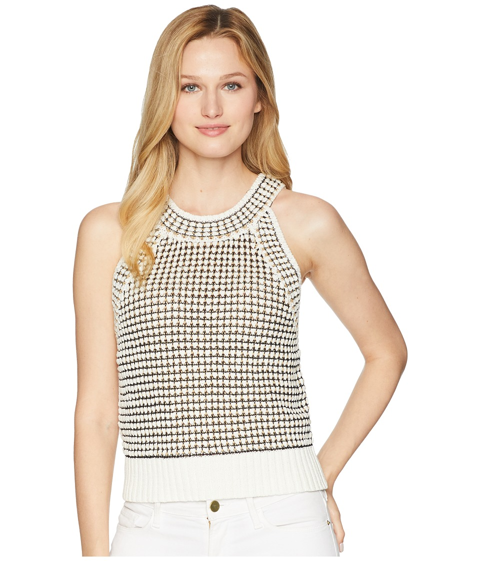 Kenneth Cole New York - Cropped Tank Top (White Combo) Womens Sleeveless