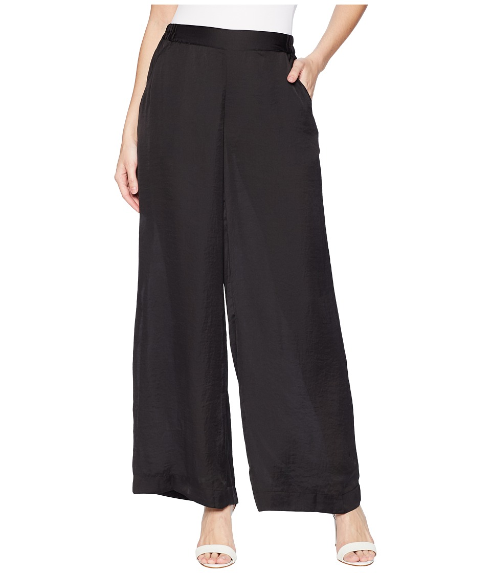 Kenneth Cole New York - Pull-On Wide Leg Trousers (Black) Womens Casual Pants