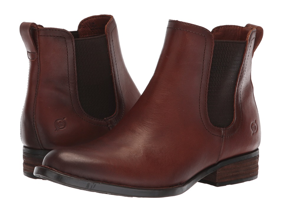 Born Casco (Brown Full Grain) Women's Pull-on Boots