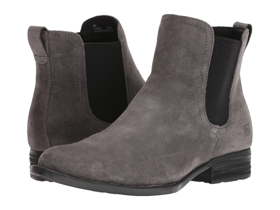 Born Casco (Dark Grey Suede) Women's Pull-on Boots