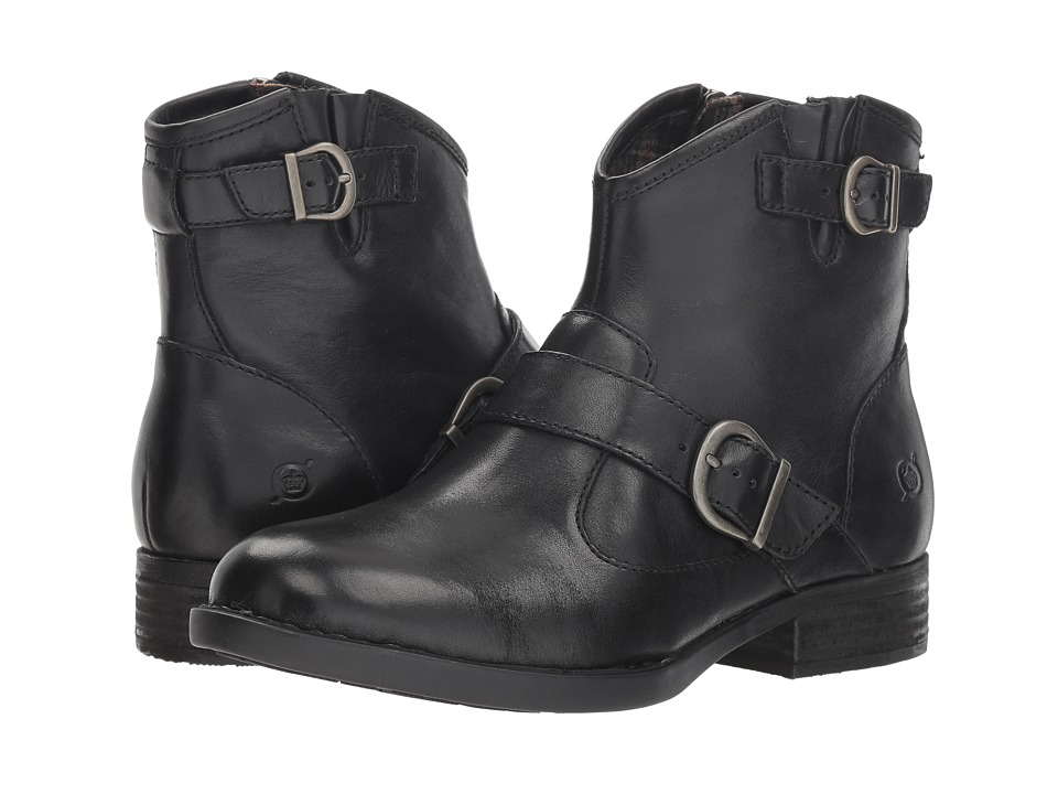 Born Regis (Black Full Grain) Women's Pull-on Boots