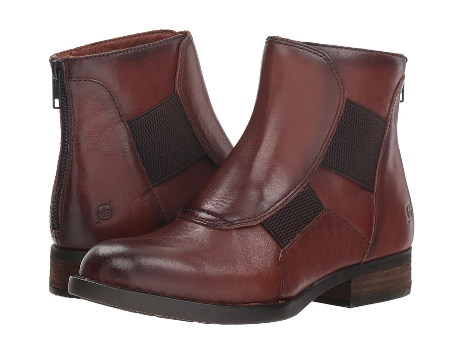 Born Reid (Brown Full Grain) Women's Pull-on Boots