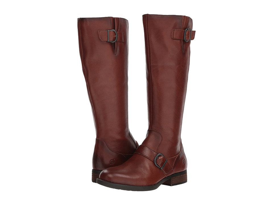 Born Poole (Brown Full Grain) Women's Pull-on Boots