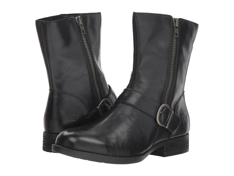 Born Roa (Black Full Grain) Women's Pull-on Boots