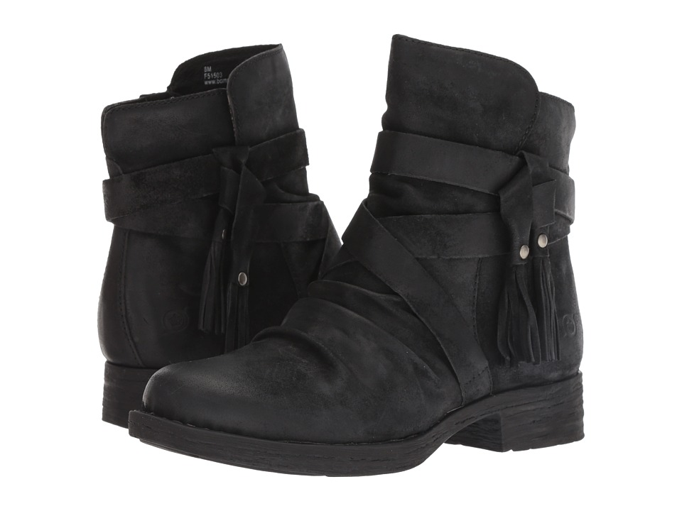 Born Eton (Black Distressed) Women's Pull-on Boots