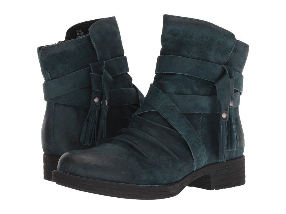 Born Eton (Dark Blue Distressed) Women's Pull-on Boots